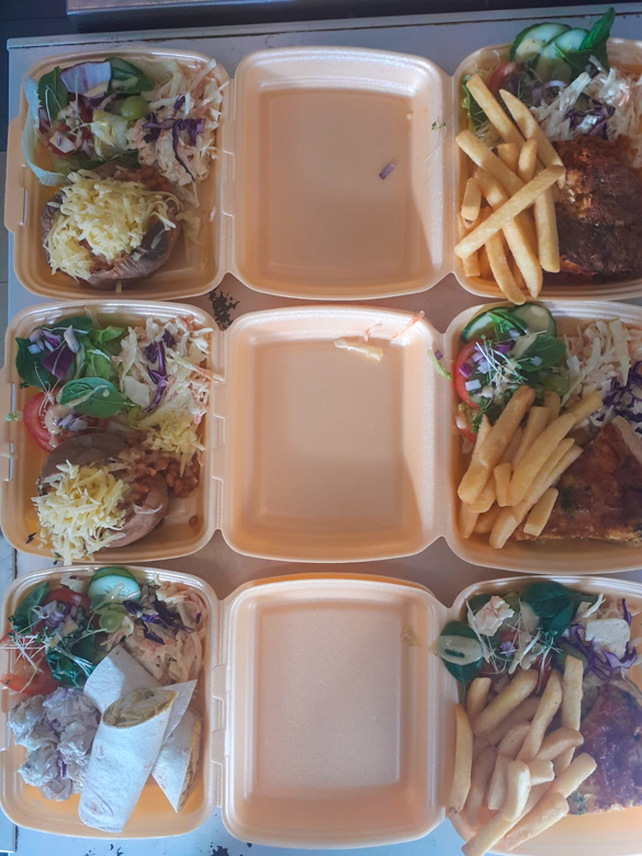 takeaway meals available through lockdown - just phone through your order and collect